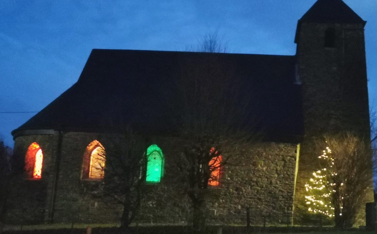 Das 4. Adventsfenster ist erleuchtet